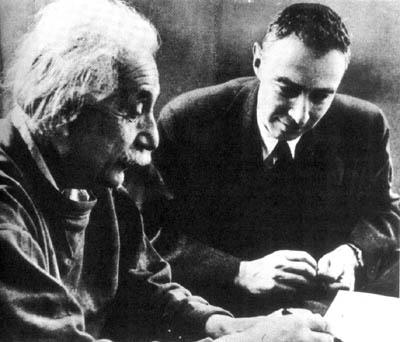 Einstein Oppenheimer picture