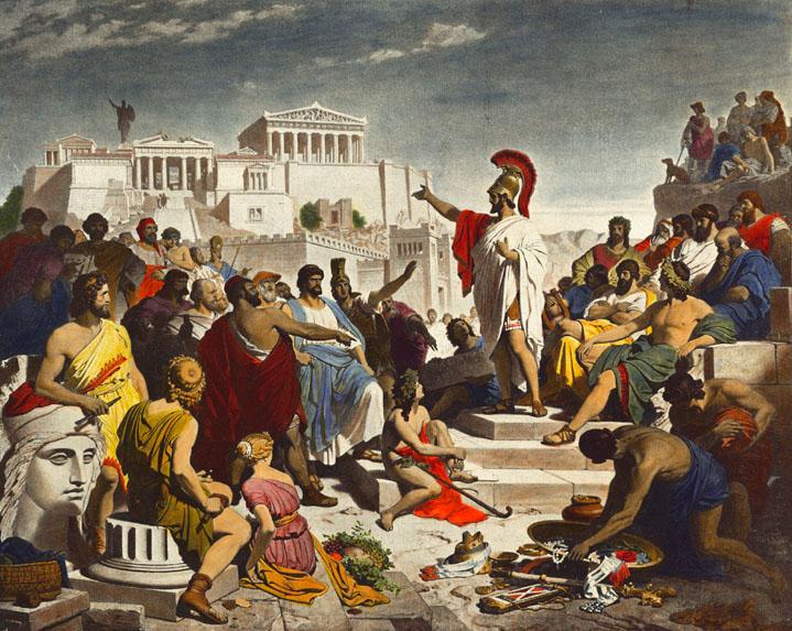 The peloponnesian war began after