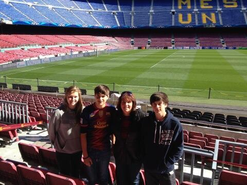 Woodward Family @ Camp Nou