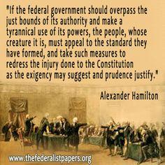 Federalist Alexander Hamilton on Government